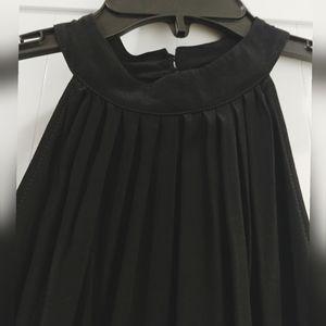 Classy boho chic dress w neck closure/ cutout back